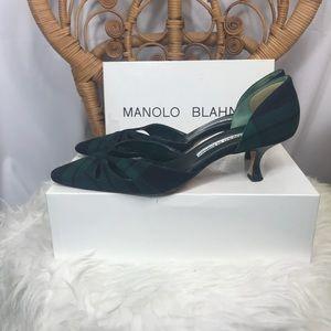 Vintage Plaid Manolo Blahnik